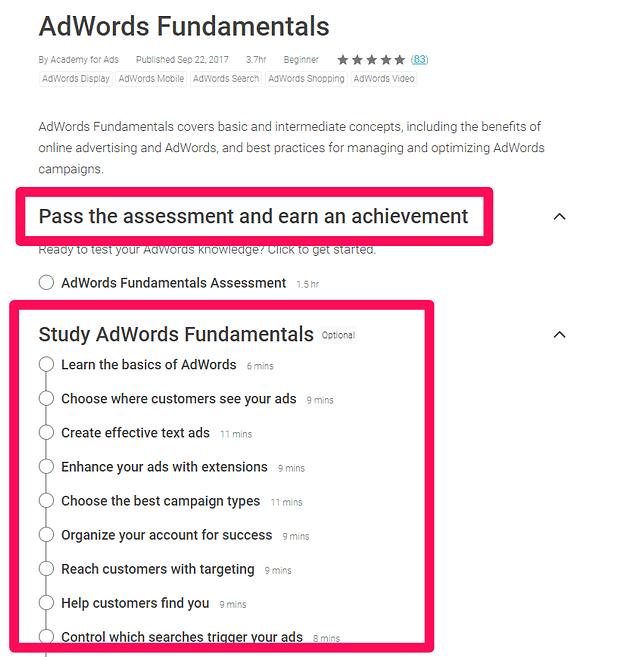 Όλα όσα χρειάζεται να ξέρεις για την απόκτηση της πιστοποίηση Google AdWords 15